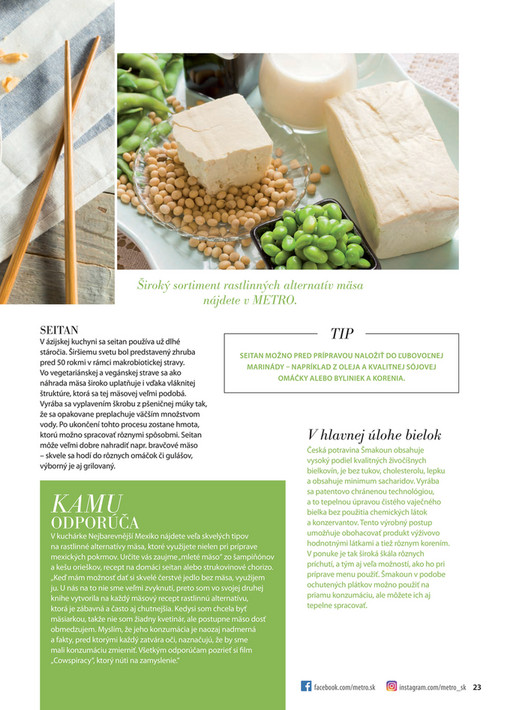 Široký sortiment rastlinných alternatív mäsa nájdete v METRO. SEITAN V  ázijskej kuchyni sa seitan používa 9794bff7220