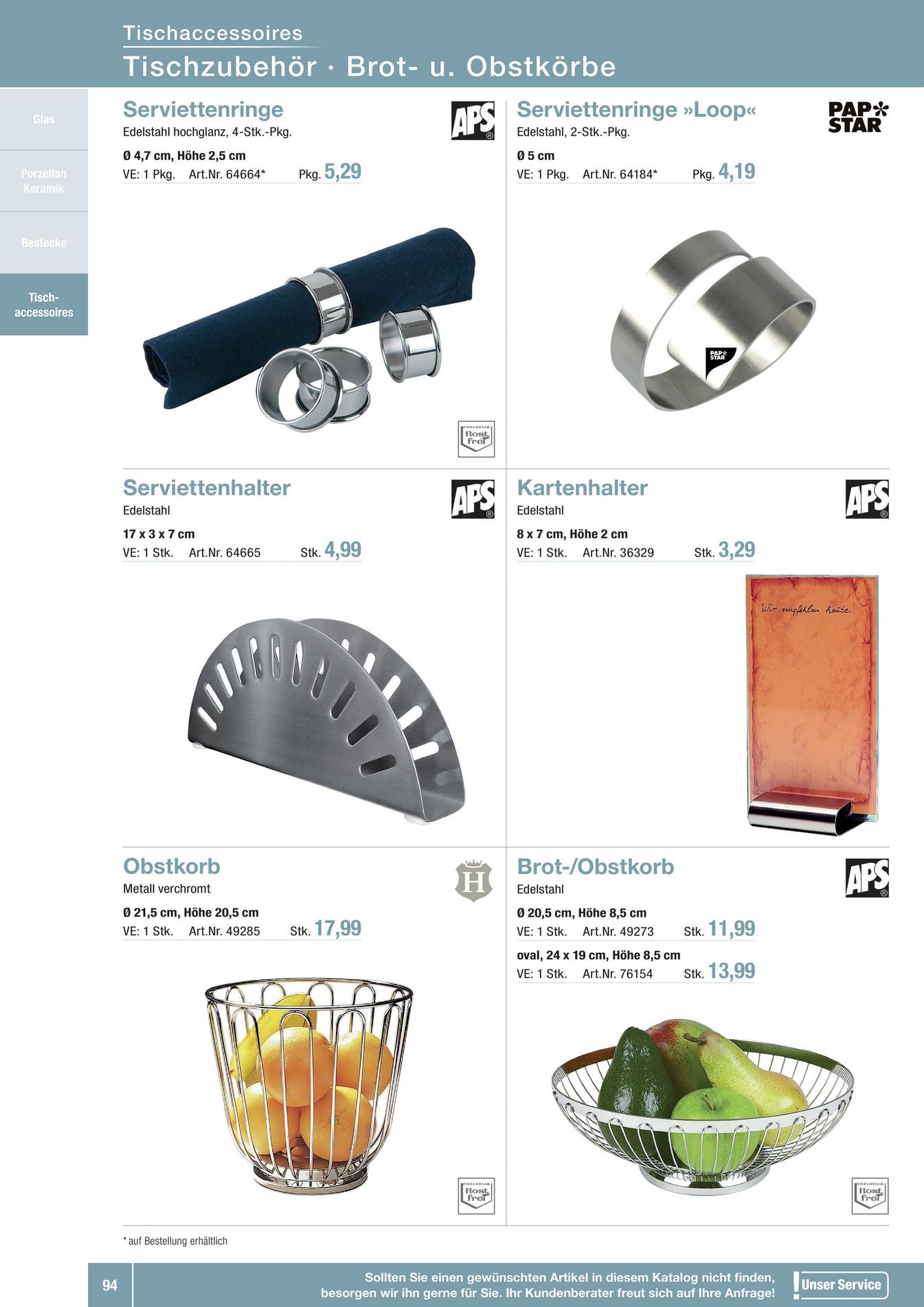 Alles Gastro - Tischaccessoires - Alles für die Gastronomie 2016 ... | {Tischaccessoires 45}