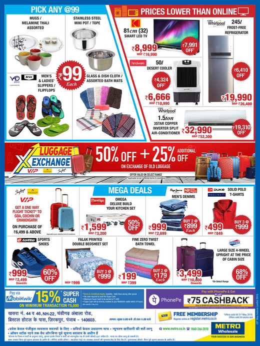 Metro Cash Carry India Lowest Price Challenge 25th May